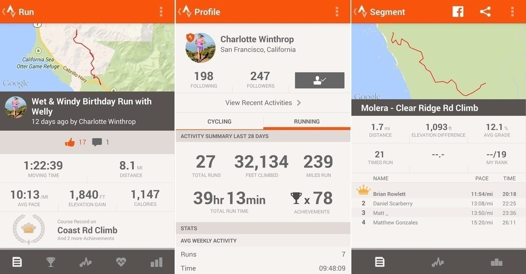 Strava- Running and Cycling GPS