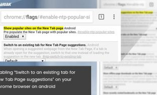 "Enable ""Switch To An Existing Tab For New Tab Page Suggestions"" On Android Chrome Browser"