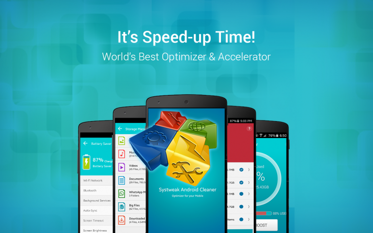 Speed up Android Device – Systweak Android Cleaner