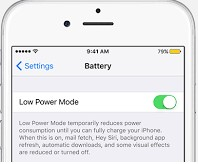 Use low Power Mode to Extend Battery Life