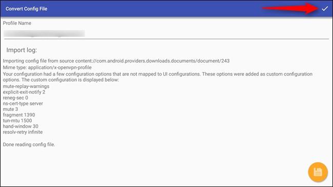 VPN config files