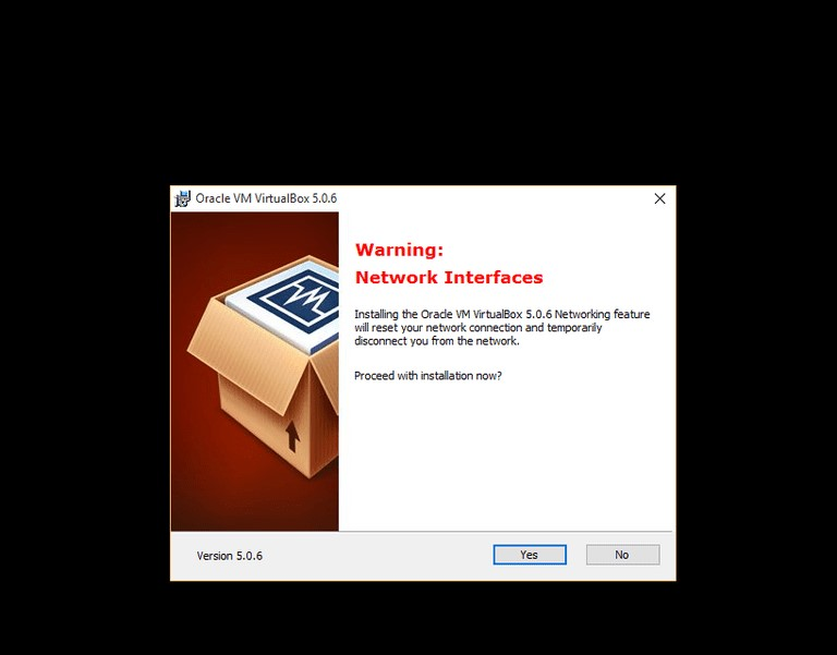Vm network interface warning
