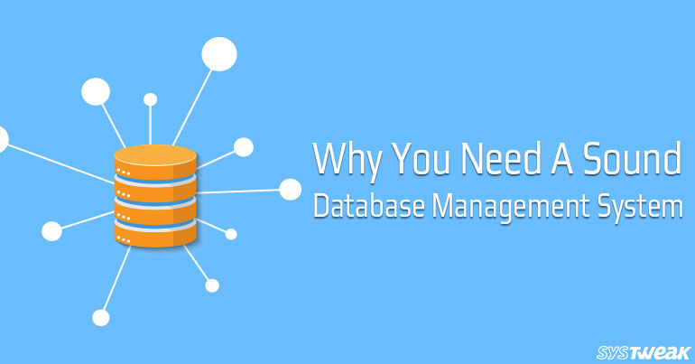 Why Do You Need A Sound Database Management System?