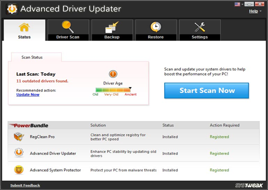 advanced driver updater by systweak