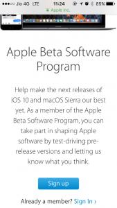 apple beta software