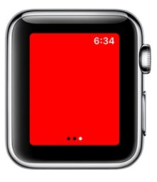 apple watch flashlight color change