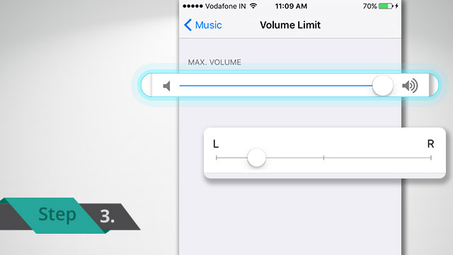 change level of volume on iPhone