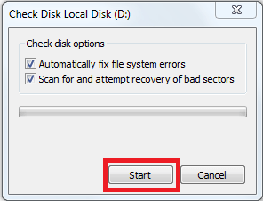 check local disk