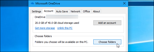 choose folder for on demand in one drive