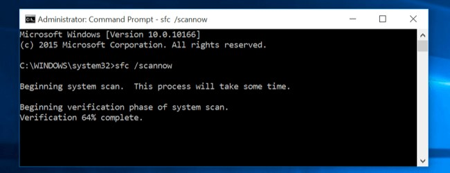 command prompt sfc scannow