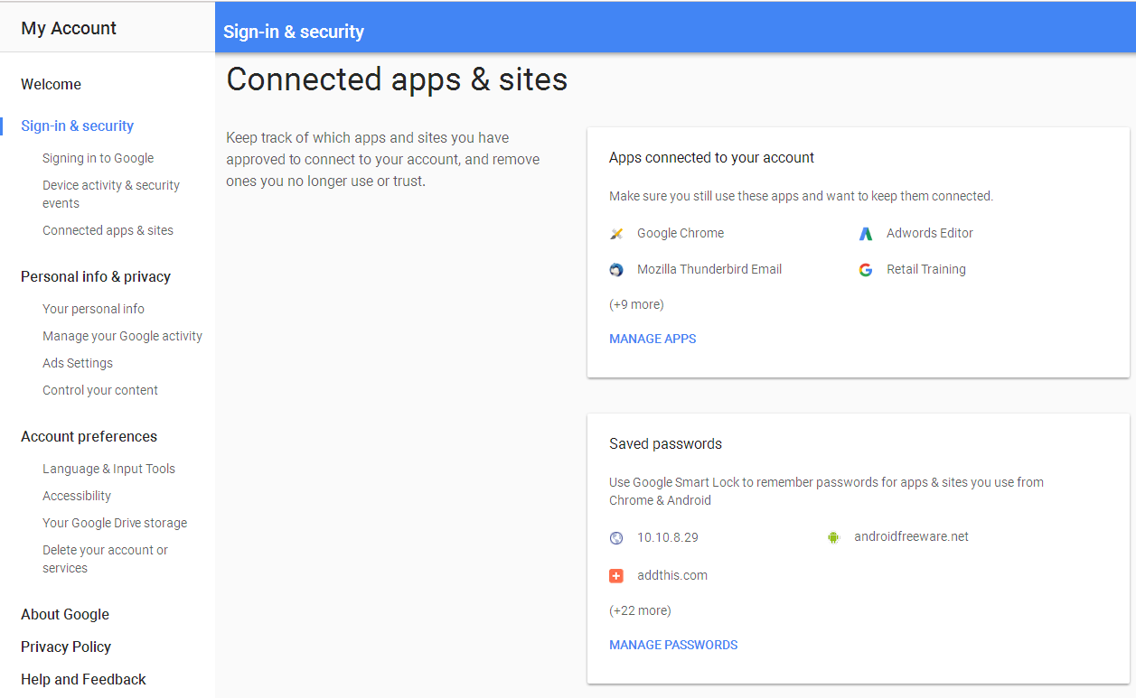 connected apps gmail