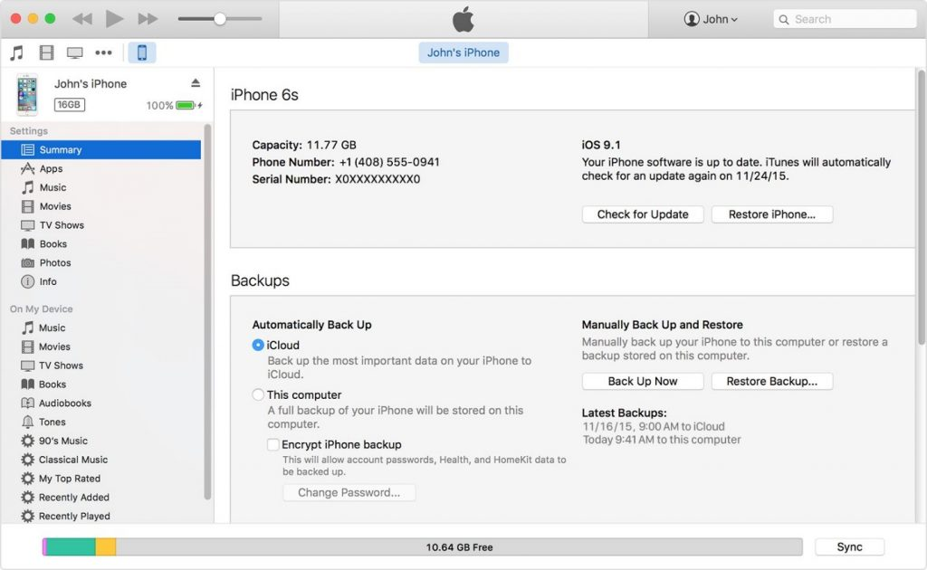 create-backup-on-iphone-5s