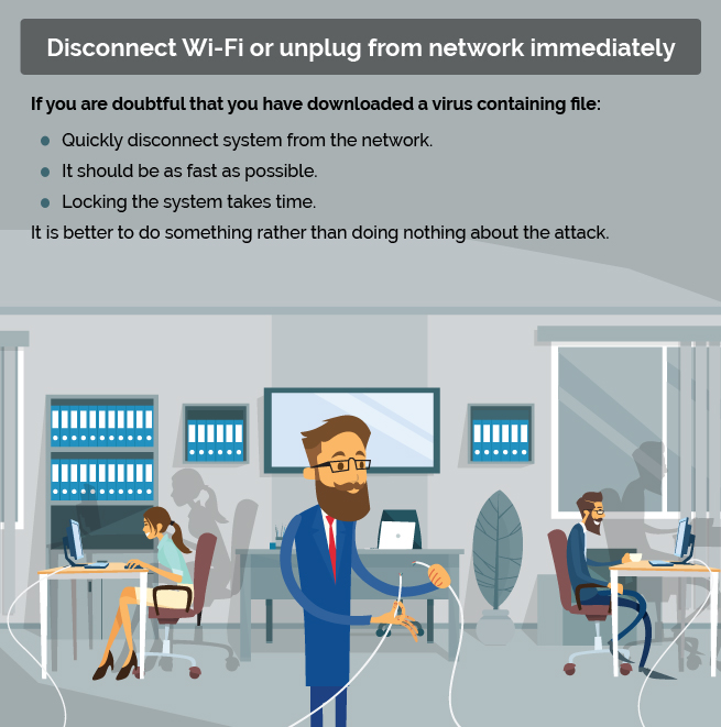 disconnect wifi to save from ransomware
