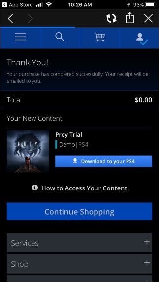 download the game on your PlayStation network
