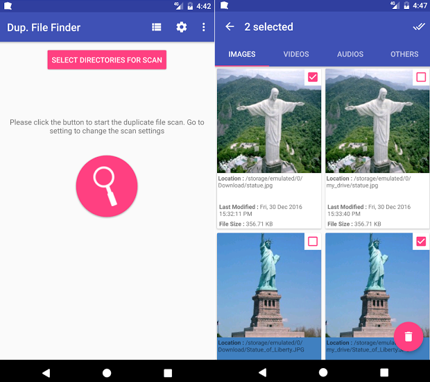 duplicate file finder remover app for android
