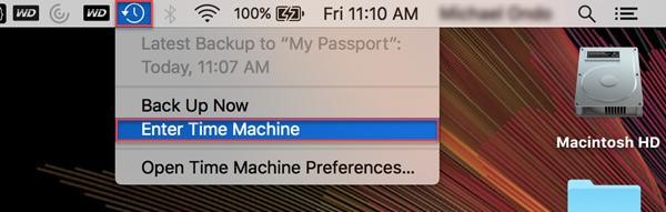 enter time machine mac