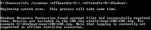 error found