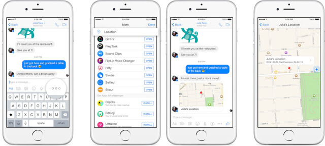 facebook messenger location