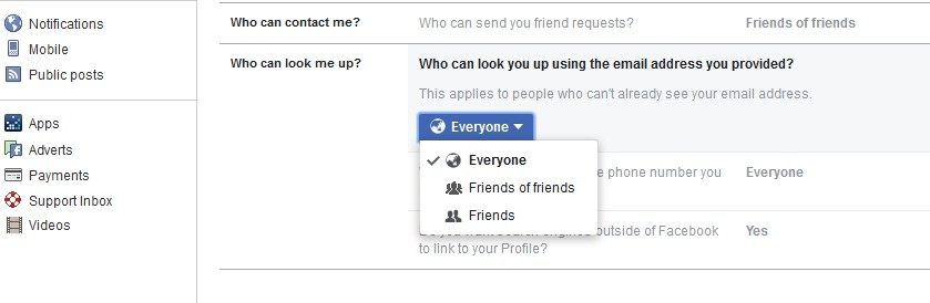facebook privacy everyone