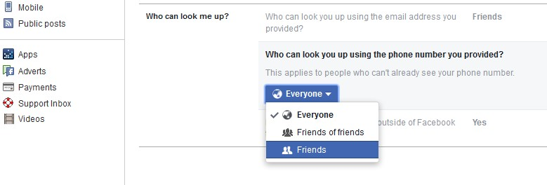 facebook privacy friends