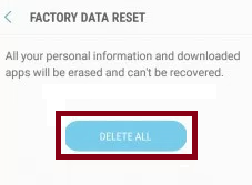 factory data reset s8 easy