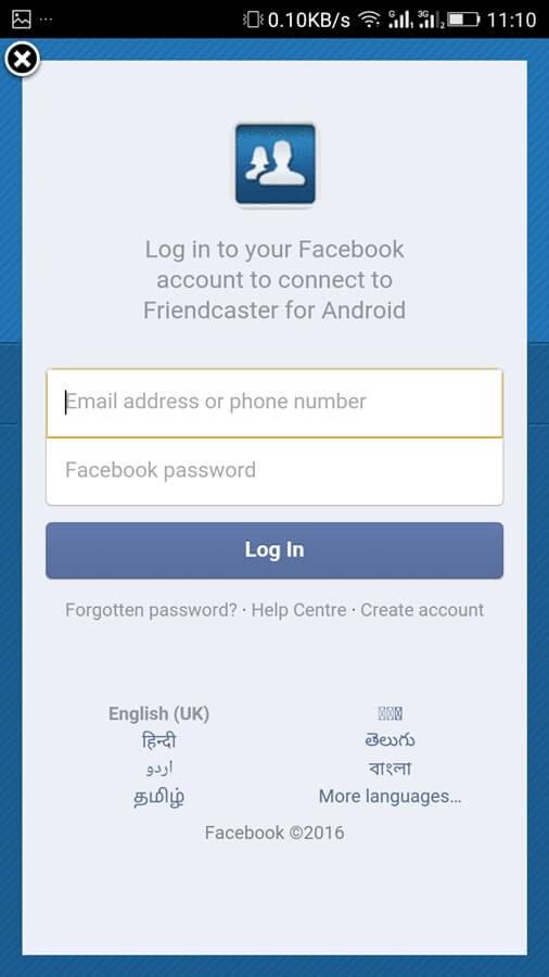 friendcaster login