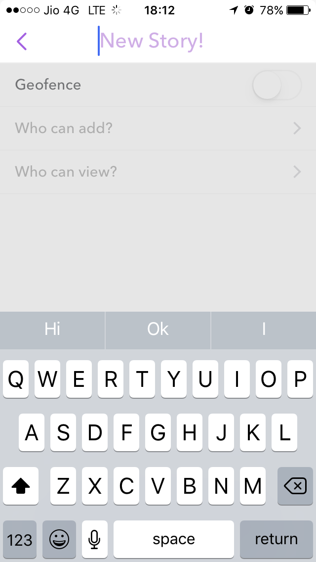 give name to snapchat story