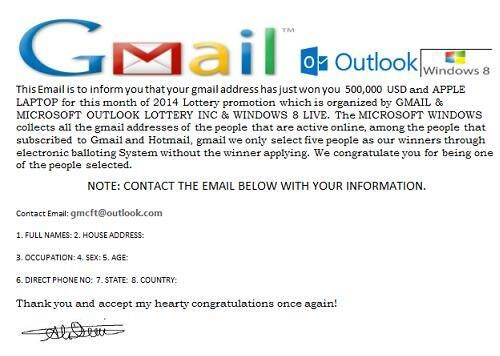 gmail scam mail