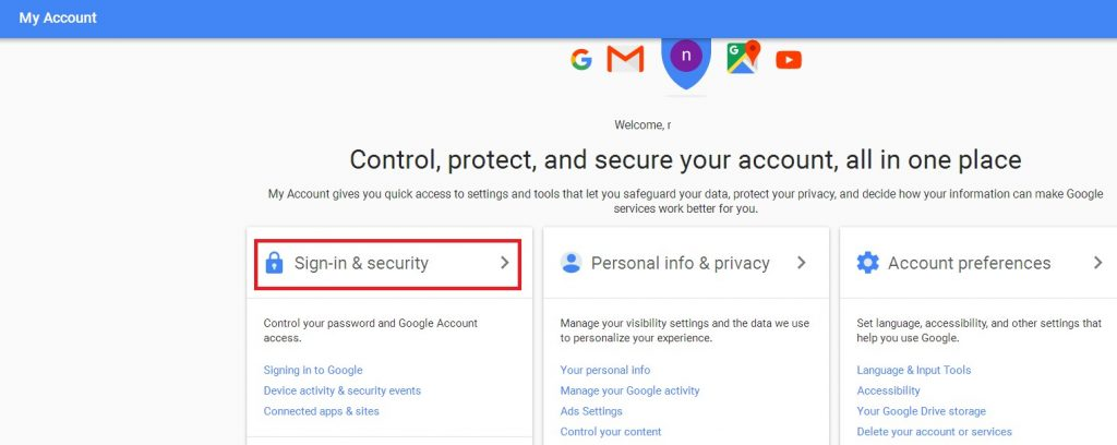 gmail signin and security