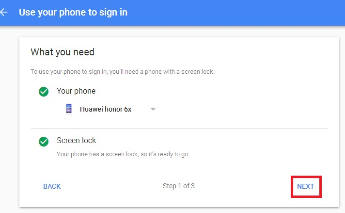 gmail signin device
