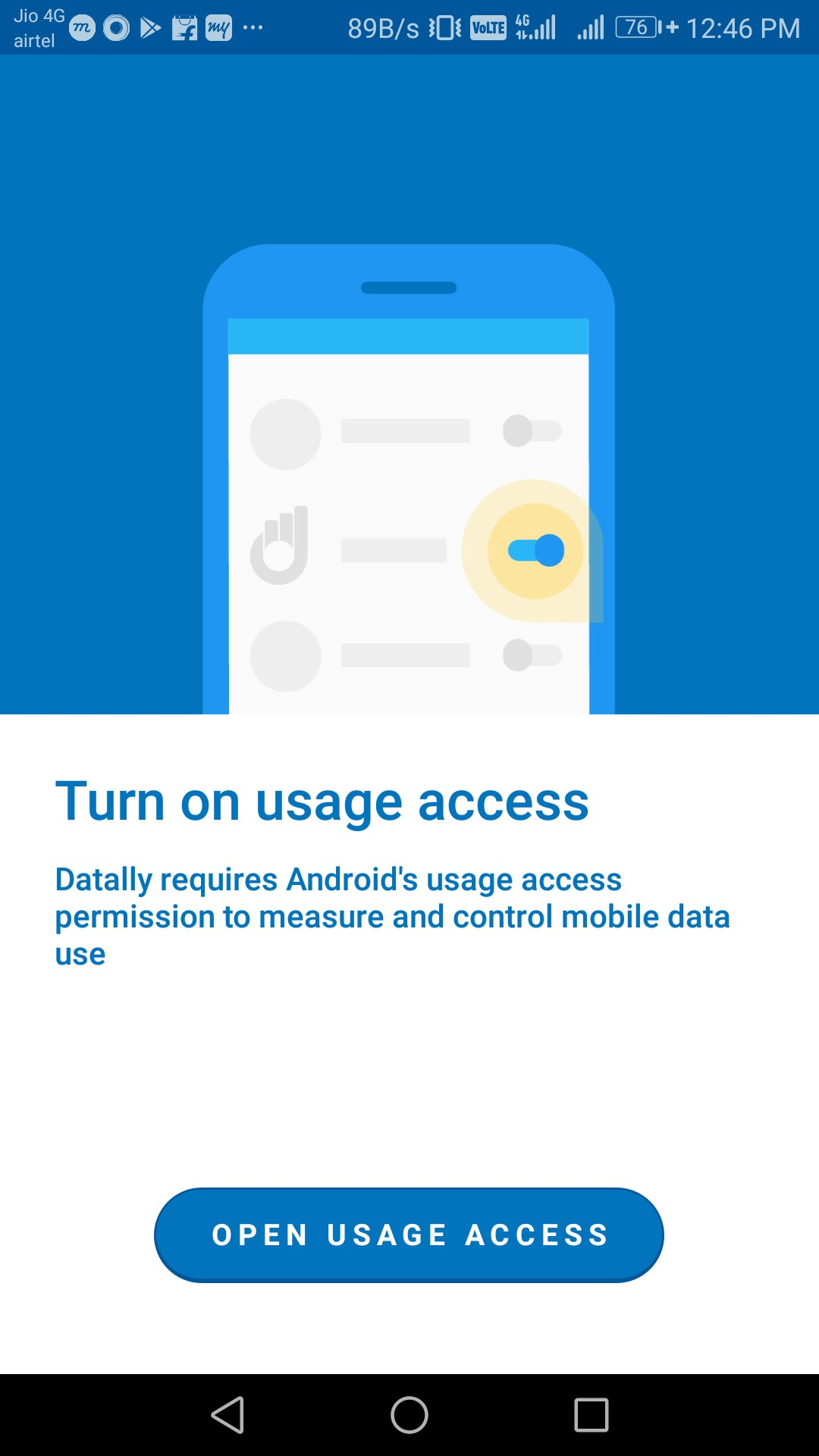 google datally usage access