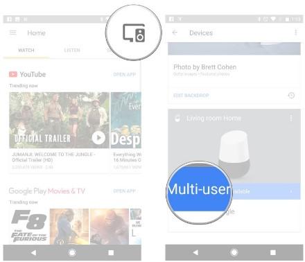 google home multi user account