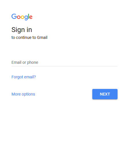google sign in option