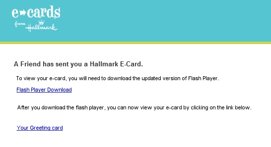 greetings card scam