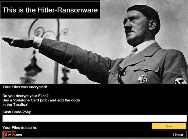 hitler ransomware attack