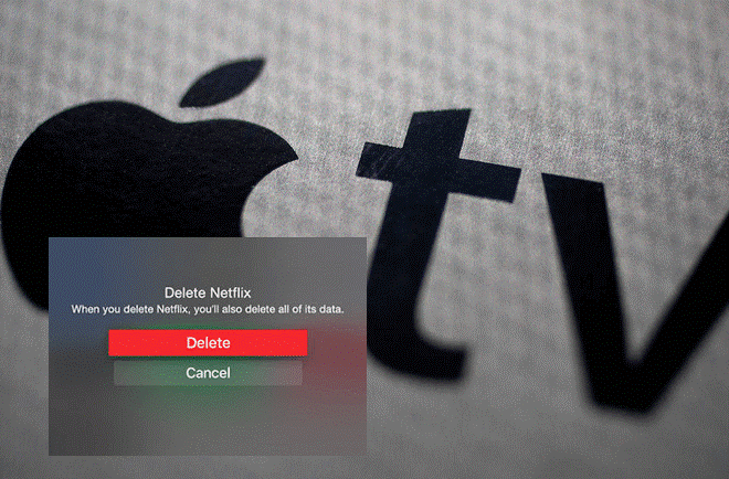 how to delete apps in apple tv