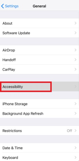 iPhone accessibility