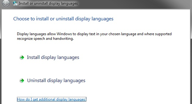 install other language windows 7