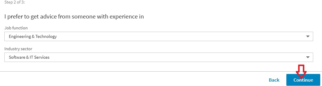linkedin specific preference