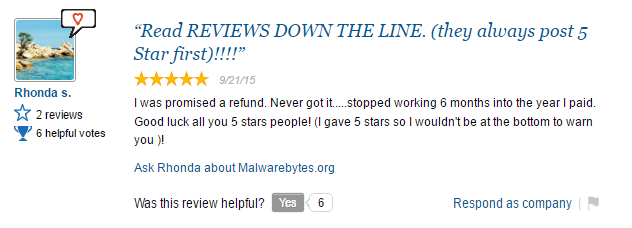 malwarebytes scam user review