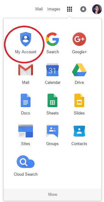 my account on gmail