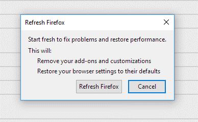 refresh firefox easily