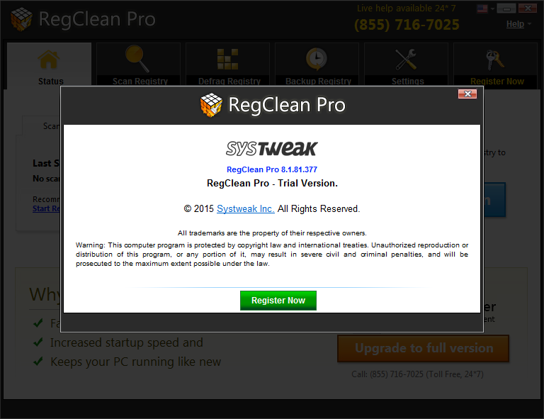 reg clean pro version screen