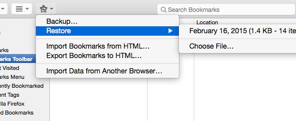 restore from time machine mac safari bookmark