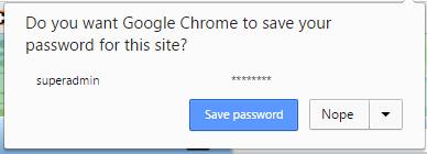 save password for google chrome