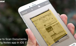 How to Scan Documents using Notes app in iOS 11