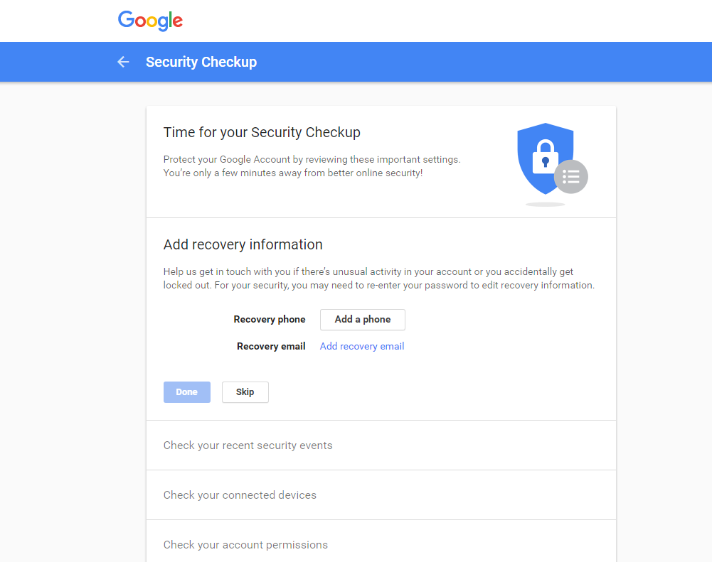 security-checkup-google