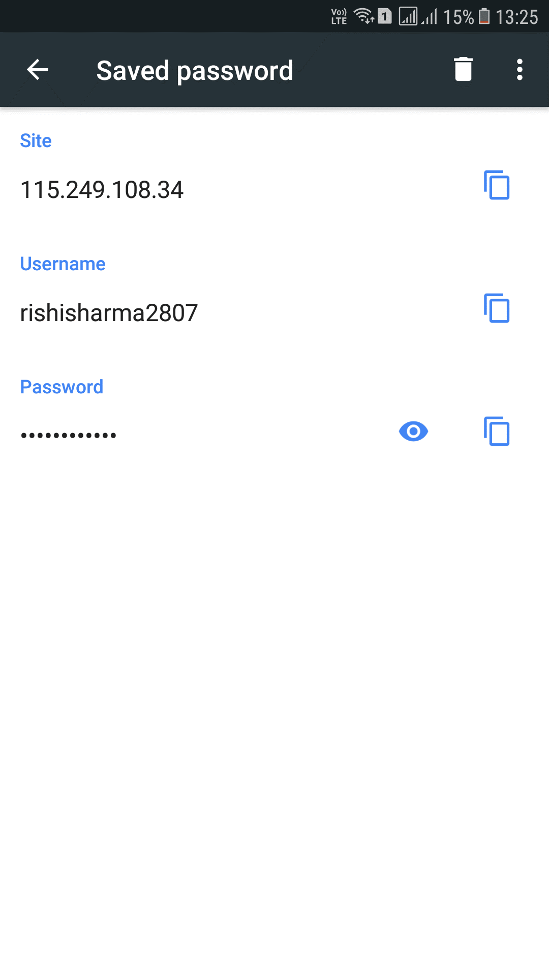 see save password