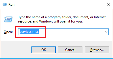 service .msc in windows 10