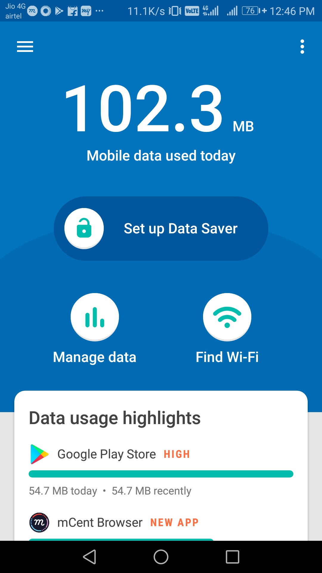 set up data saver